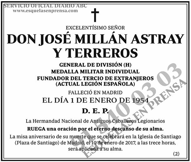 José Millán Astray y Terreros